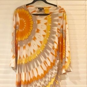 Colorful Long-sleeve Top, Size L